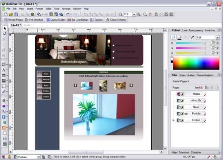 Screenshot für Serif WebPlus