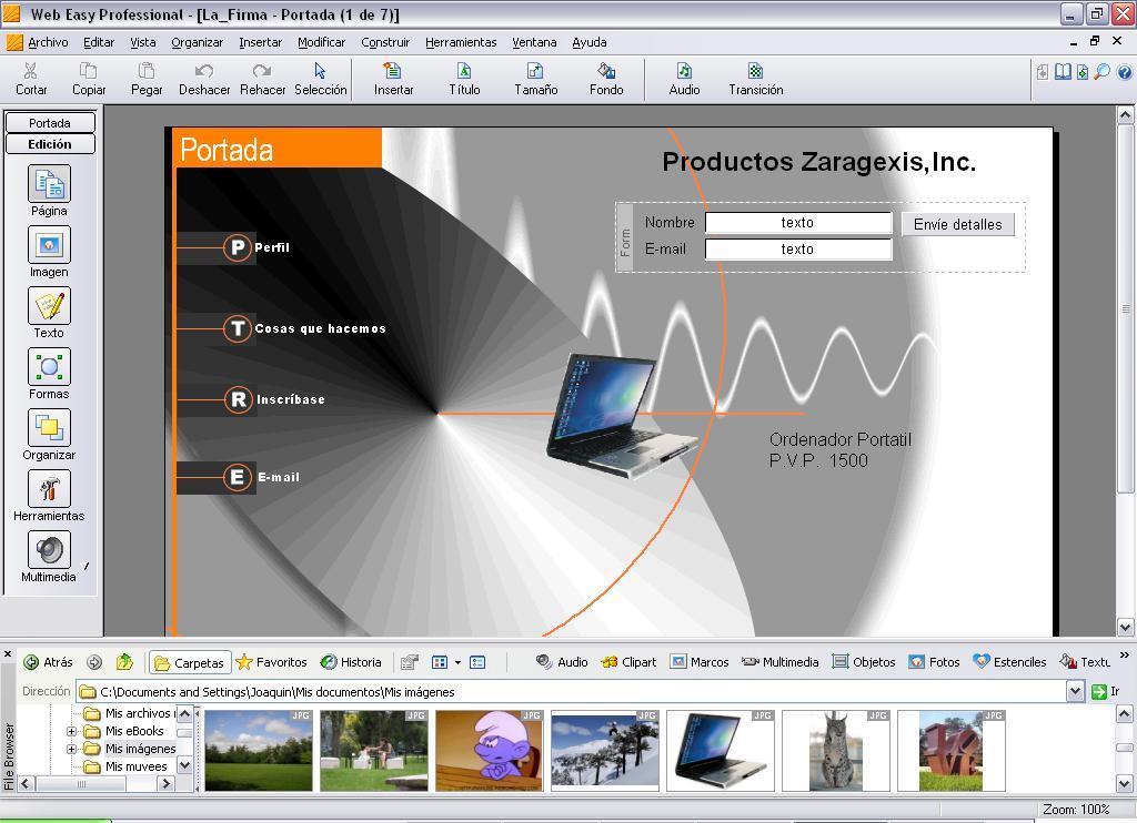 Captura de pantalla de WebEasy 6 Professional 6.0